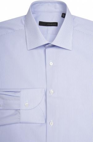 Сорочка свободного фасона с воротником кент Stanbridge. Цвет: голубой