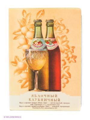 Обложка для автодокументов Яблочный - Клубничный Mitya Veselkov. Цвет: персиковый