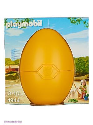 Яйцо: Смотритель зоопарка с Альпаком Playmobil. Цвет: желтый