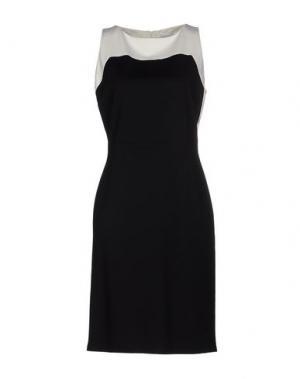 Платье до колена LIST. Цвет: черный