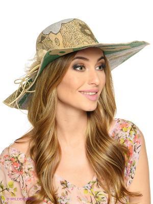Шляпа FOMAS. Цвет: бежевый, зеленый