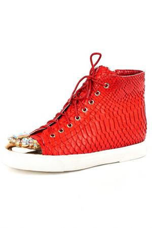 Ботинки Vita Ricca. Цвет: красная змея