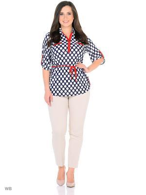 Блузка, модель Полина. Dorothy's Home. Цвет: темно-синий, белый, красный