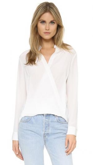 Драпированная блуза без воротника 3.1 Phillip Lim. Цвет: белый