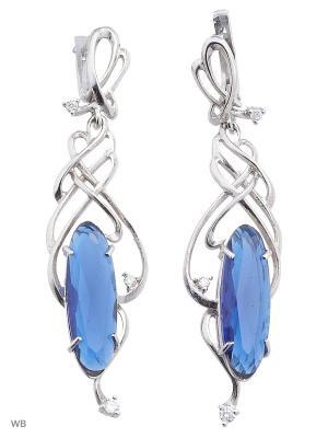 Серьги ACCENT jewelry. Цвет: синий
