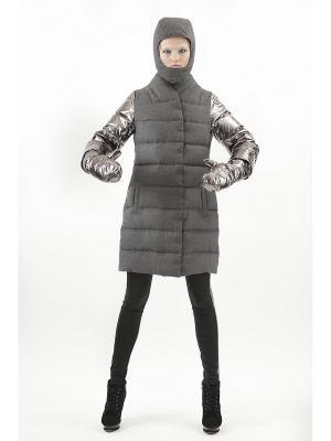 Пальто пуховое DOCTOR E. Цвет: серый, темно-серый
