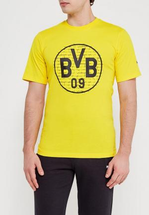 Футболка PUMA. Цвет: желтый