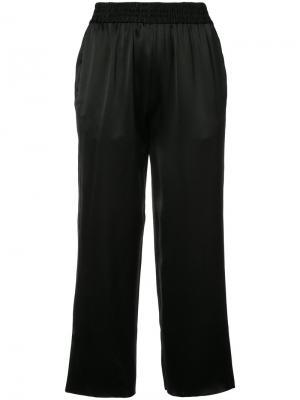 High waisted cropped trousers Nili Lotan. Цвет: чёрный