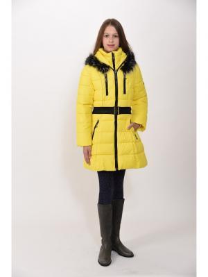 Пальто для девочек TOPKLAER. Цвет: желтый