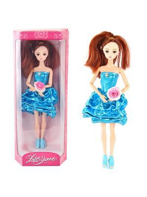 Кукла Алина, 28 см Lisa Jane. Цвет: голубой, розовый