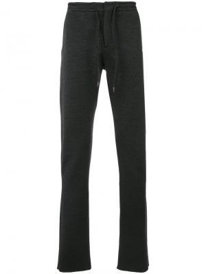 Спортивные брюки с молниями Ermenegildo Zegna. Цвет: серый