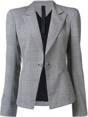 Однобортный пиджак в клетку Gareth Pugh. Цвет: чёрный