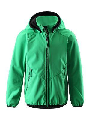 Куртка Reima. Цвет: зеленый