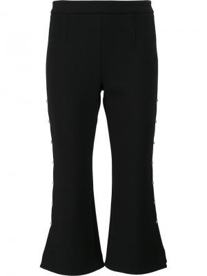 Расклешенные брюки со шнуровкой по бокам Jonathan Simkhai. Цвет: чёрный