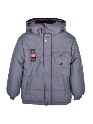 Куртка WOW. Цвет: серый