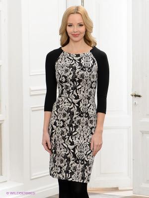 Платье BOVONA. Цвет: черный, молочный