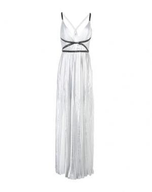 Длинное платье GLAMOROUS. Цвет: серебристый