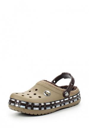 Сланцы Crocs. Цвет: хаки