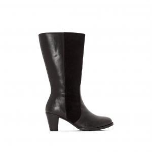 Ботильоны кожаные на каблуке Kate HUSH PUPPIES. Цвет: черный