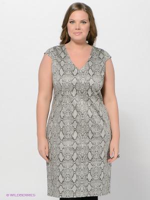 Платье LE MONIQUE. Цвет: светло-серый, бежевый