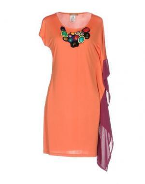 Короткое платье JOLIE CARLO PIGNATELLI. Цвет: оранжевый