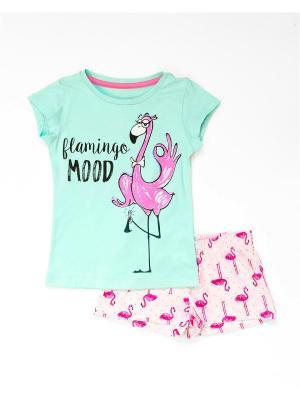 Пижама Mark Formelle. Цвет: розовый, бледно-розовый, светло-зеленый