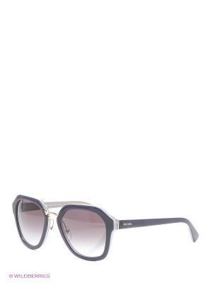 Очки солнцезащитные PRADA. Цвет: серый