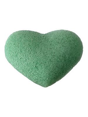 Конжаковый спонж с экстрактом зеленого чая, для лица CLARETTE. Цвет: зеленый