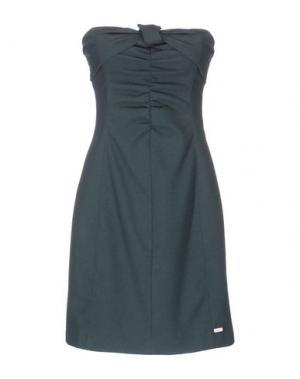 Короткое платье ANIYE BY. Цвет: темно-зеленый
