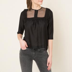 Блузка LISBETH SESSUN. Цвет: черный,экрю