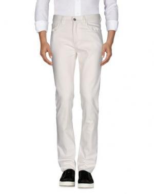 Джинсовые брюки RAF SIMONS. Цвет: белый