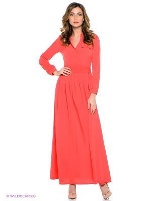 Платье TOPSANDTOPS. Цвет: коралловый