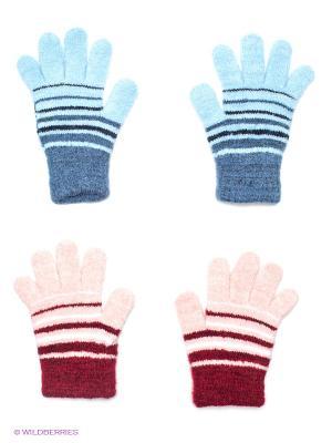 Перчатки, 2 пары FOMAS. Цвет: голубой, розовый, бордовый