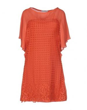 Короткое платье ANGELA MELE MILANO. Цвет: оранжевый