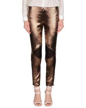 Повседневные брюки GOOD ON HEELS. Цвет: бронзовый