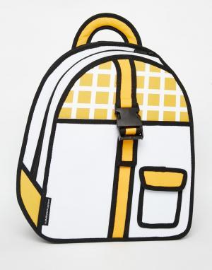 JumpFromPaper Рюкзак с пряжкой. Цвет: желтый