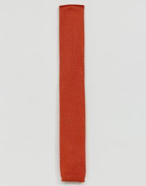 MOSS BROS Трикотажный галстук London. Цвет: оранжевый