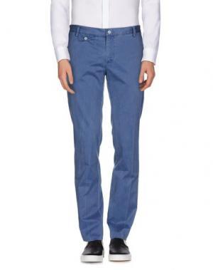 Повседневные брюки J.W. TABACCHI. Цвет: синий