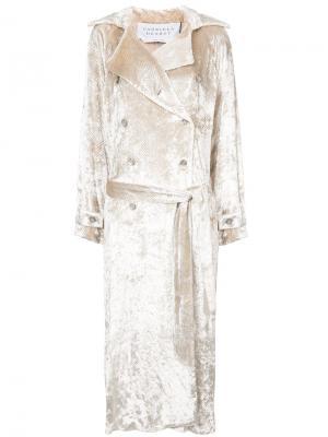 Двубортное свободное пальто Gabriela Hearst. Цвет: металлический