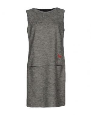 Короткое платье ROBERTA SCARPA. Цвет: серый