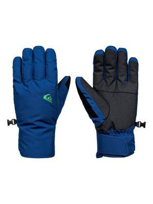 Перчатки Quiksilver. Цвет: темно-синий, серо-голубой, темно-серый