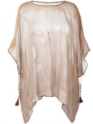 Striped tassel tunic Mes Demoiselles. Цвет: серый