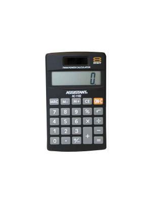 Калькулятор карманный Assistant. Цвет: черный