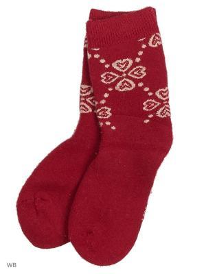 Носки ВАЛЕНТИНА СТИЛЬ. Цвет: красный