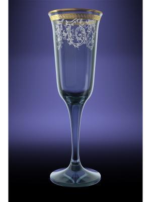 Набор 6 бокалов юнона с рисунком каскад Гусь-Хрустальный. Цвет: прозрачный