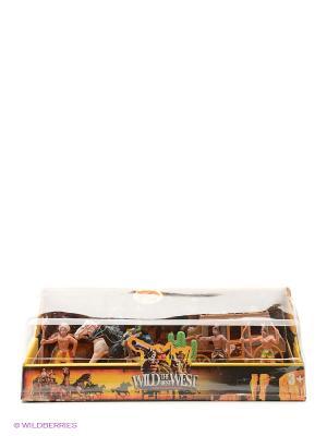 Игровой набор ковбои и индейцы с аксессуарами 1Toy. Цвет: белый