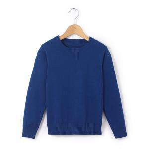 Пуловер с круглым вырезом, 3-12 лет La Redoute Collections. Цвет: синий морской,синий