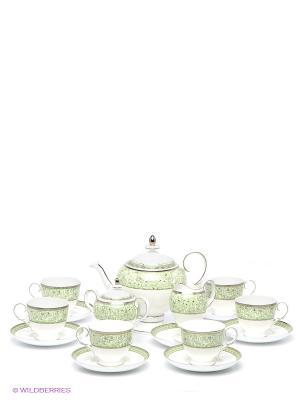 Чайный сервиз Аделина Pavone. Цвет: белый, светло-зеленый