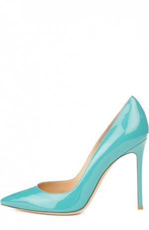 Лаковые туфли Business на шпильке Gianvito Rossi. Цвет: бирюзовый
