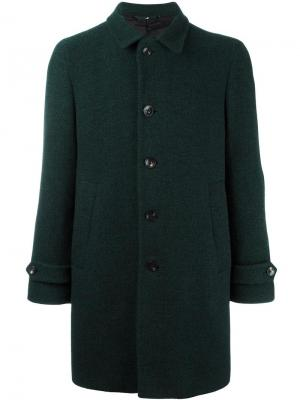 Пальто с заостренными лацканами Hevo. Цвет: зелёный
